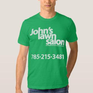 John's Lawn Salon working shirt. Shirts