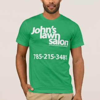 John's Lawn Salon working shirt. T-Shirt