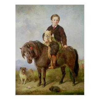 John Samuel Bradford as a boy Postcard