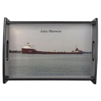 John Sherwin serving tray