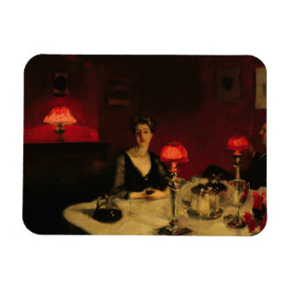 John Singer Sargent - A Dinner Table at Night Rectangular Photo Magnet