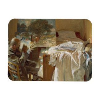 John Singer Sargent - An Artist in His Studio Rectangular Photo Magnet