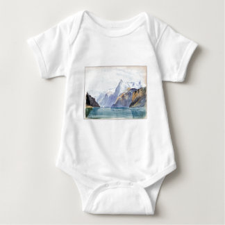 John Singer Sargent Bay of Uri, Brunnen Baby Bodysuit