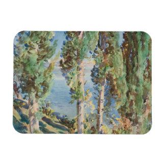 John Singer Sargent - Corfu - Cypresses Rectangular Photo Magnet