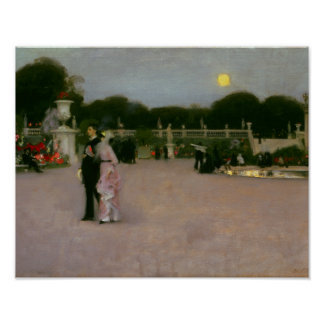 John Singer Sargent - In the Luxembourg Gardens Poster