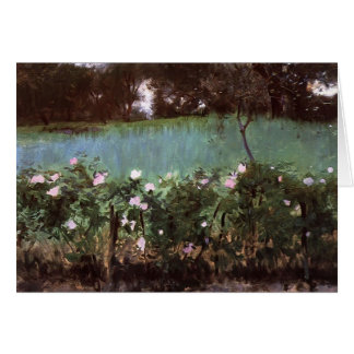 John Singer Sargent- Landscape with Rose Trellis Card