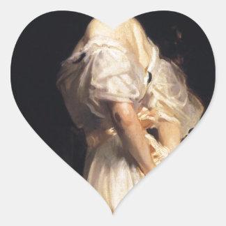 John Singer Sargent - Nancy Astor - Fine Art Heart Sticker