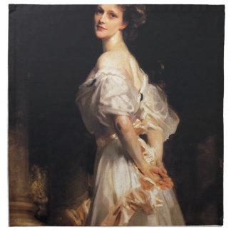 John Singer Sargent - Nancy Astor - Fine Art Napkin