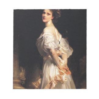 John Singer Sargent - Nancy Astor - Fine Art Notepad