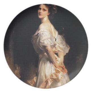 John Singer Sargent - Nancy Astor - Fine Art Plate