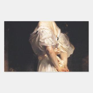 John Singer Sargent - Nancy Astor - Fine Art Rectangular Sticker