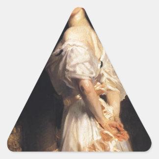 John Singer Sargent - Nancy Astor - Fine Art Triangle Sticker