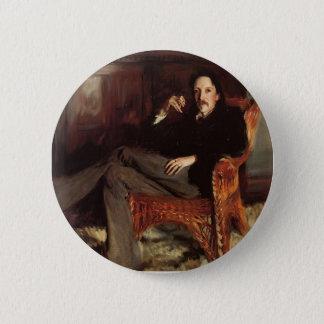 John Singer Sargent- Robert Louis Stevenson 6 Cm Round Badge
