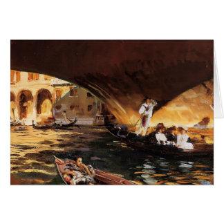 John Singer Sargent- The Rialto, Venice Card
