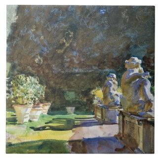 John Singer Sargent - Villa di Marlia, Lucca Large Square Tile