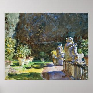 John Singer Sargent - Villa di Marlia, Lucca Poster