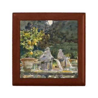 John Singer Sargent - Villa di Marlia, Lucca Small Square Gift Box