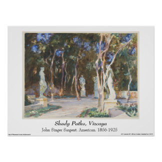 John Singer Sargent Watercolor - Landscape Poster