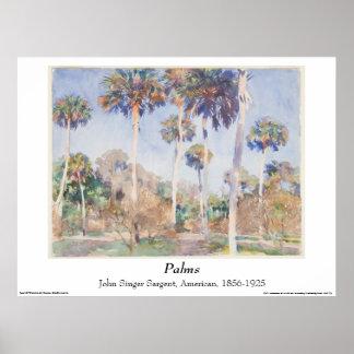 John Singer Sargent Watercolor - Palms Poster