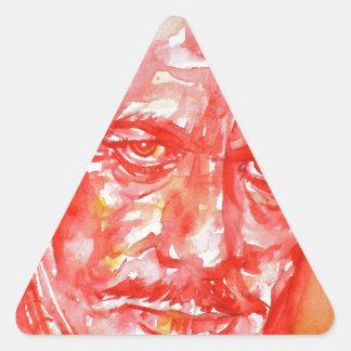 JOHN STEINBECK - watercolor portrait Triangle Sticker