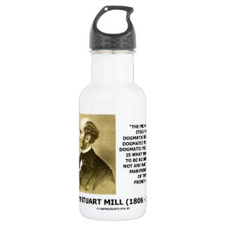 John Stuart Mill Dogmatic Religion Morality Quote 18oz Water Bottle