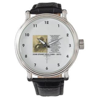John Stuart Mill Freedom Pursuing Own Good Own Way Wristwatch