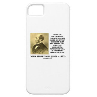 John Stuart Mill Prevent Harm To Others Quote iPhone 5 Cover