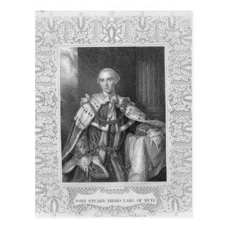 John Stuart, Third Earl of Bute, engraved Postcard