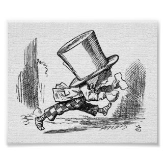 John Tenniel The Mad Hatter Alice in Wonderland Posters
