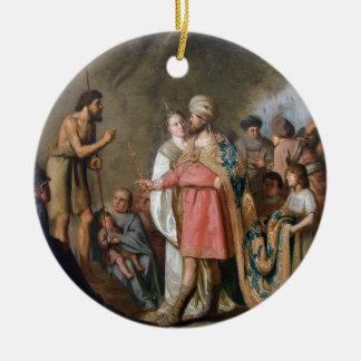 John the Baptist Preaching Ceramic Ornament