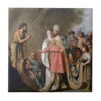 John the Baptist Preaching Ceramic Tile