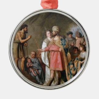 John the Baptist Preaching Metal Ornament