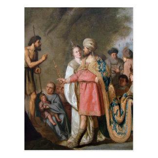 John the Baptist Preaching Postcard