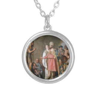 John the Baptist Preaching Silver Plated Necklace