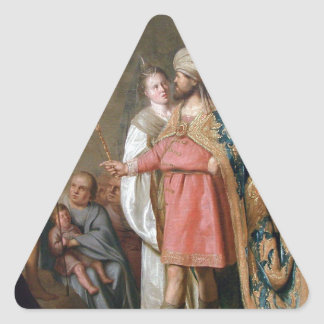 John the Baptist Preaching Triangle Sticker