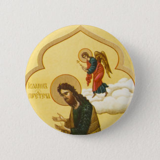 John the Baptist Russian icon 6 Cm Round Badge