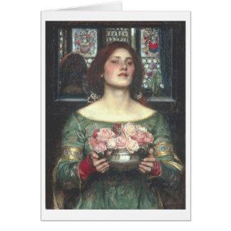 John W Waterhouse - Gather Ye Rosebuds (1908) Card