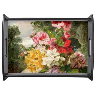 John Wainwright, Floral Still Life Service Trays