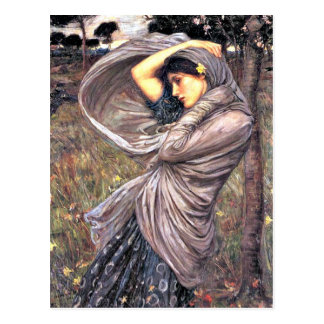 John Waterhouse - Boreas, 1903, artwork Postcard