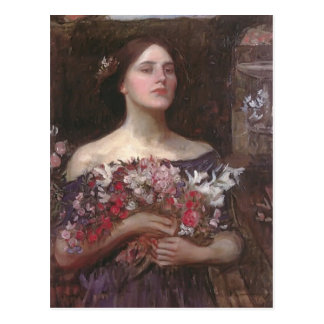 John Waterhouse- Gather Ye Rosebuds or Ophelia Postcard