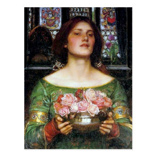 John Waterhouse - Gather Ye Rosebuds Postcard
