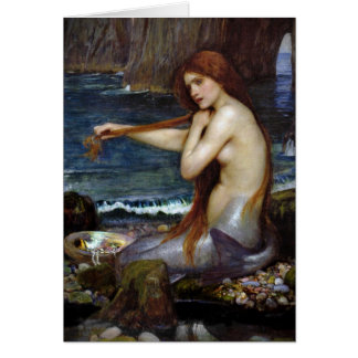 John Waterhouse Mermaid Card