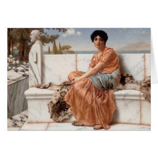 John William Godward - In the Days of Sappho Card
