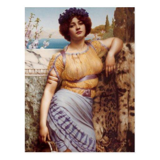 John William Godward - Ionian dancing girl Postcards