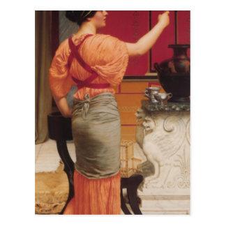 John William Godward - Lesbia with her Sparrow Postcard