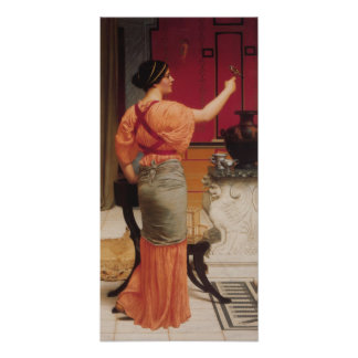 John William Godward - Lesbia with her Sparrow Poster