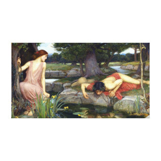 John William Waterhouse Echo and Narcissus Canvas Print