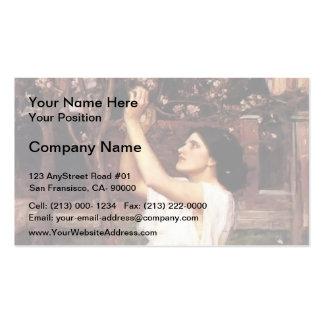 John William Waterhouse- Gathering Almond Blossoms Business Card