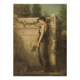 John William Waterhouse Gone But Not Forgotten Poster