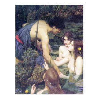 John William Waterhouse - Hylas and the Nymphs Postcard